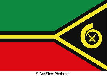 180 Degree Rotated Flag of Vanuatu - A 180 Degree Rotated...