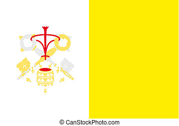 180 Degree Rotated Flag of Vatican - A 180 Degree Rotated...