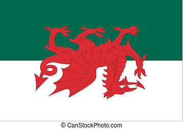180 Degree Rotated Flag of Wales - A 180 Degree Rotated Flag...