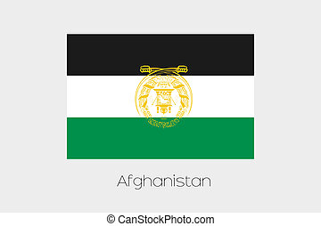 180 Degree Rotated Flag of Afghanistan - A 180 Degree...