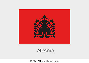 180 Degree Rotated Flag of Albania - A 180 Degree Rotated...