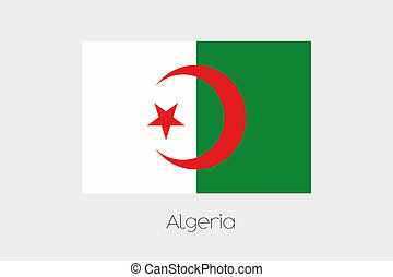 180 Degree Rotated Flag of Algeria - A 180 Degree Rotated...