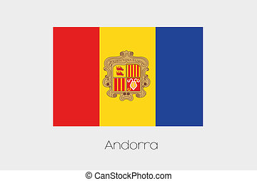 180 Degree Rotated Flag of Andorra - A 180 Degree Rotated...