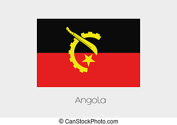 180 Degree Rotated Flag of Angola - A 180 Degree Rotated...