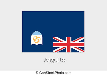180 Degree Rotated Flag of Anguilla - A 180 Degree Rotated...