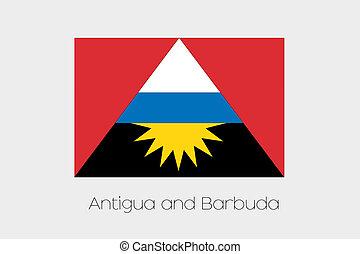 180 Degree Rotated Flag of Antigua and Barbuda - A 180...