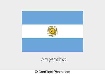 180 Degree Rotated Flag of Argentina - A 180 Degree Rotated...