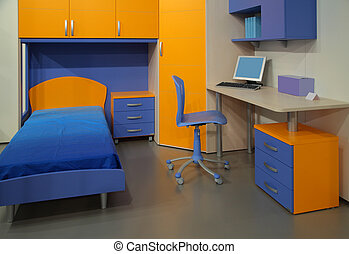 Children\'s room with computer