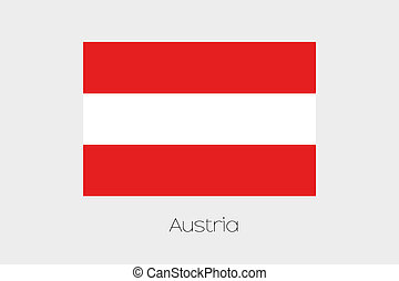180 Degree Rotated Flag of Austria - A 180 Degree Rotated...