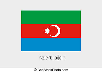 180 Degree Rotated Flag of Azerbaijan - A 180 Degree Rotated...