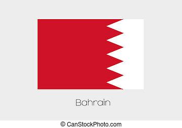 180 Degree Rotated Flag of Bahrain - A 180 Degree Rotated...