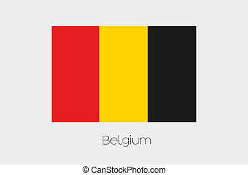 180 Degree Rotated Flag of Belgium - A 180 Degree Rotated...