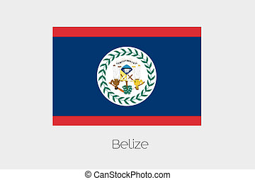 180 Degree Rotated Flag of Belize - A 180 Degree Rotated...