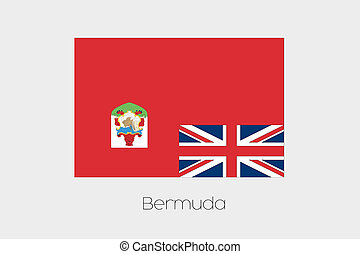 180 Degree Rotated Flag of Bermuda - A 180 Degree Rotated...