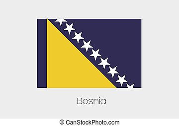180 Degree Rotated Flag of Bosnia - A 180 Degree Rotated...