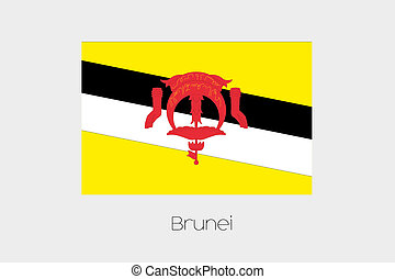 180 Degree Rotated Flag of Brunei - A 180 Degree Rotated...