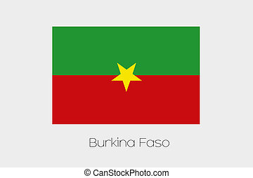 180 Degree Rotated Flag of Burkina Faso - A 180 Degree...