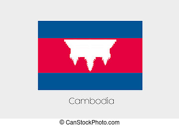 180 Degree Rotated Flag of Cambodia - A 180 Degree Rotated...
