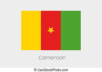 180 Degree Rotated Flag of Cameroon - A 180 Degree Rotated...