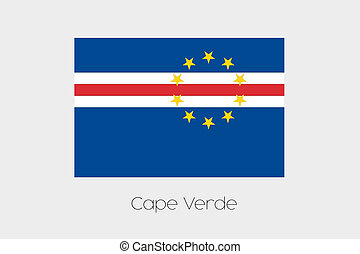 180 Degree Rotated Flag of Cape Verde - A 180 Degree Rotated...