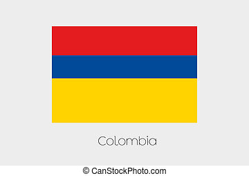180 Degree Rotated Flag of Colombia - A 180 Degree Rotated...