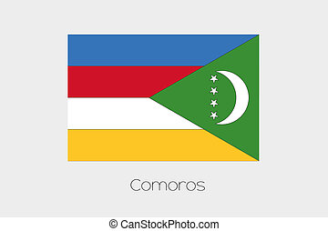 180 Degree Rotated Flag of Comoros - A 180 Degree Rotated...
