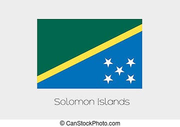 180 Degree Rotated Flag of Solomon Islands - A 180 Degree...