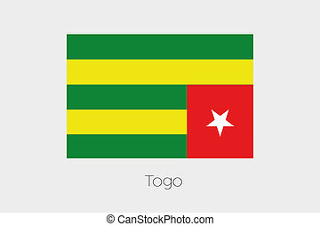 180 Degree Rotated Flag of Togo - A 180 Degree Rotated Flag...
