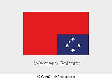Samoa, grado, ruotato,  180, bandiera, Occidentale