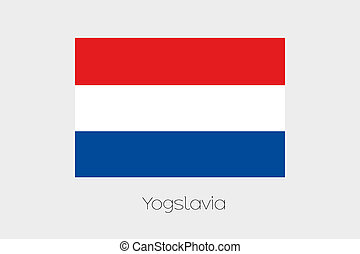 180 Degree Rotated Flag of Yugoslavia - A 180 Degree Rotated...