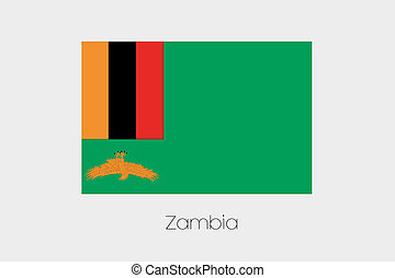 180 Degree Rotated Flag of Zambia - A 180 Degree Rotated...