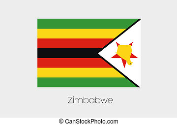 180 Degree Rotated Flag of Zimbabwe - A 180 Degree Rotated...