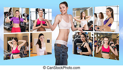 Collage of pretty girls - Collage of pretty fitness girls...