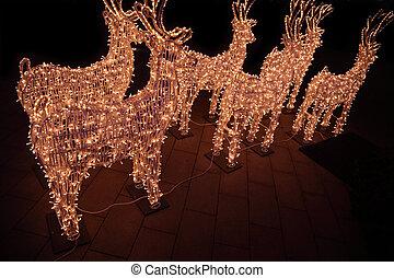 Figures of shone deer