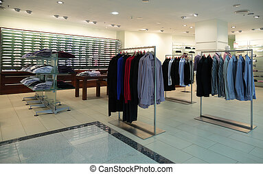 Men clothes in shop