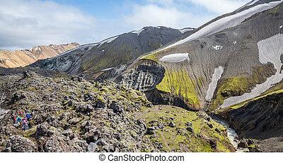 Landmannalaugar unbelievable colorful landscape and...