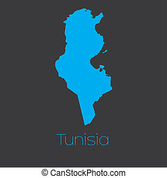 Map of the country of Tunisia - A Map of the country of...
