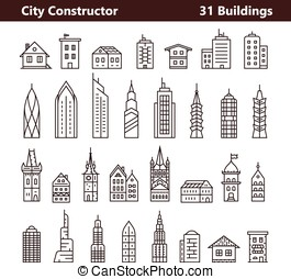 Cityscape constructor and City builder Urban city and old...