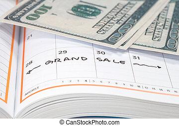 begriff, Verabredung, Bild, Verkauf, Großartig, Kalender