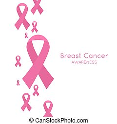 Breast Cancer Awareness Ribbon Vector Abstract background...
