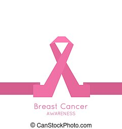 Breast Cancer Awareness Ribbon.  icons. pink.
