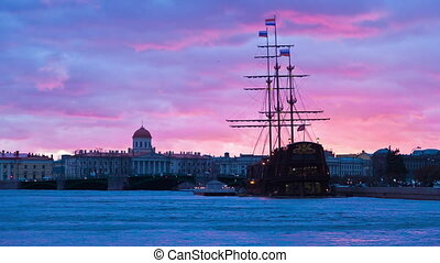sailing Ship St. Petersburg. Russia