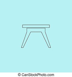 Small table icon, sign and button - Small table Simple...