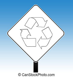 Recyling road sign