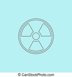 Radiation icon - Radiation Simple outline flat vector icon...