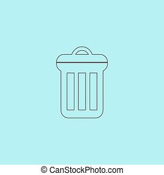 urn icon - Urn. Simple outline flat vector icon isolated on...