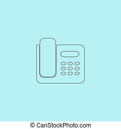 Vector fax machine illustration - Fax machine. Simple...