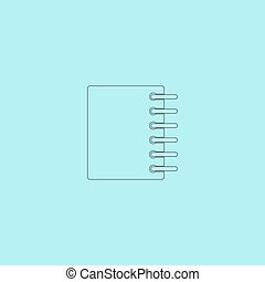 Ring binder calendar notepad - Vector icon isolated - Ring...