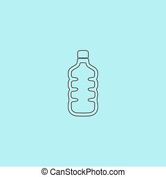 Icon of plastic water bottle