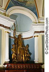 escultura, predios, nicho